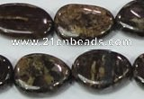 CBZ60 15.5 inches 18*25mm freeform bronzite gemstone beads