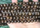 CBZ620 15.5 inches 8mm round bronzite beads wholesale