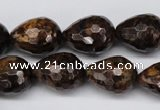 CBZ90 15.5 inches 15*20mm faceted teardrop bronzite gemstone beads