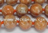 CCA454 15.5 inches 12mm round orange calcite gemstone beads