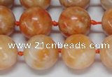 CCA455 15.5 inches 14mm round orange calcite gemstone beads