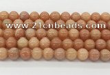 CCA516 15.5 inches 10mm round peach calcite gemstone beads