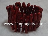 CCB100 7.5 inches Vagarious coral bracelet jewelry wholesale