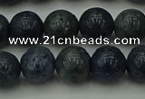 CCB452 15.5 inches 8mm round blue coral beads wholesale