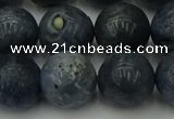 CCB456 15.5 inches 16mm round blue coral beads wholesale