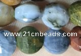 CCB625 15.5 inches 6mm faceted coin ocean agate gemstone beads