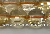 CCB686 15.5 inches 10mm faceted coin citrine gemstone beads
