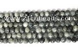 CCB765 15.5 inches 8mm faceted coin eagle eye jasper beads