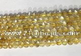 CCB766 15.5 inches 8mm faceted coin citrine beads