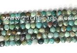 CCB769 15.5 inches 8mm faceted coin chrysocolla gemstone beads