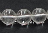 CCC206 15.5 inches 16mm round grade AB natural white crystal beads