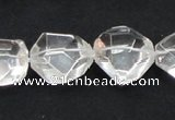 CCC218 20*22mm faceted nugget grade AB natural white crystal beads
