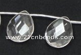 CCC227 18*25mm briolette grade AB natural white crystal beads