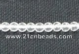 CCC251 15.5 inches 6mm faceted round grade A natural white crystal beads