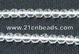 CCC258 15.5 inches 6mm round grade A natural white crystal beads