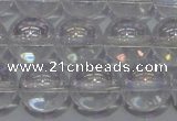 CCC401 15.5 inches 6mm round AB-color white crystal beads