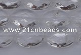 CCC515 15.5 inches 13*18mm faceted oval natural white crystal beads