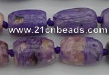CCG113 15.5 inches 13*18mm drum charoite gemstone beads