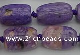 CCG114 15.5 inches 15*20mm drum charoite gemstone beads