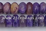 CCG118 15.5 inches 6*11mm rondelle charoite gemstone beads