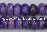CCG123 15.5 inches 6*11mm rondelle charoite gemstone beads
