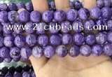CCG150 15.5 inches 12mm round charoite gemstone beads