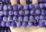 CCG151 15.5 inches 13mm round charoite gemstone beads
