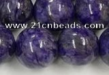 CCG313 15.5 inches 12mm round dyed charoite beads wholesale
