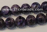 CCG33 15.5 inches 12mm round natural charoite gemstone beads