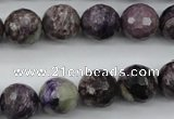 CCG54 15.5 inches 12mm faceted round natural charoite beads
