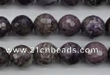 CCG57 15.5 inches 9mm faceted round natural charoite beads