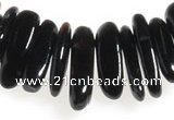 CCH03 16 inches black agate chips gemstone beads wholesale