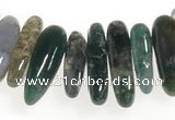 CCH05 16 inches moss agate chips gemstone beads wholesale