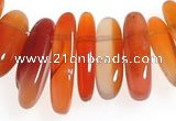 CCH07 16 inches red onyx chips gemstone beads wholesale