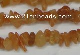 CCH201 34 inches 3*5mm red aventurine chips gemstone beads wholesale