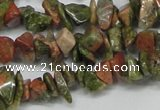CCH203 34 inches 3*5mm unakite chips gemstone beads wholesale