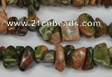 CCH225 34 inches 5*8mm unakite chips gemstone beads wholesale