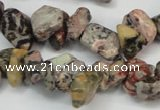 CCH226 34 inches 5*8mm red leopard skin jasper chips beads wholesale