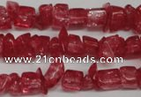 CCH262 34 inches 4*6mm synthetic crack crystal chips beads wholesale