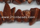 CCH301 34 inches 8*12mm goldstone chips gemstone beads wholesale