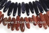 CCH42 16 inches goldstone chips gemstone beads wholesale