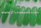 CCH501 15.5 inches 6*18mm - 8*25mm dyed white jade chips beads