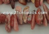 CCH604 15.5 inches 3*12mm - 4*16mm rhodochrosite chips gemstone beads