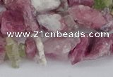 CCH706 15.5 inches 6*8mm - 10*14mm pink tourmaline chips beads