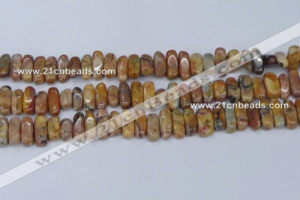 CCH711 15.5 inches 5*10mm - 5*15mm venus jasper chips beads