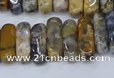 CCH712 15.5 inches 5*10mm - 5*15mm black moss opal chips beads
