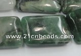 CCJ02 15.5 inches 22*30mm rectangle natural African jade beads wholesale
