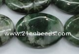 CCJ23 15.5 inches 22*30mm oval natural African jade beads wholesale
