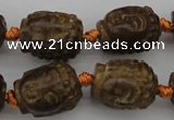 CCJ232 15.5 inches 13*18mm carved buddha China jade beads