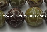 CCJ307 15.5 inches 18mm round China jade beads wholesale